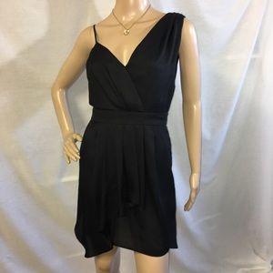Black Asymmetrical BCBG Sleeveless Dress